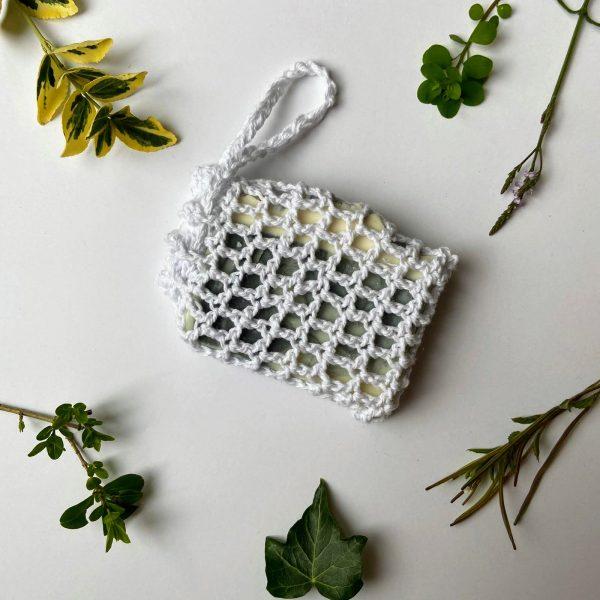 Ecopia Stockport Cotton soap saver bag with vegan patchouli soap