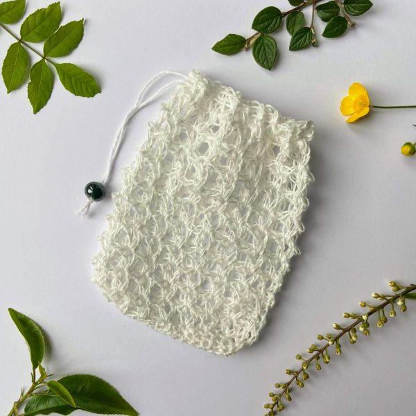 Ecopia Stockport linen soap bag