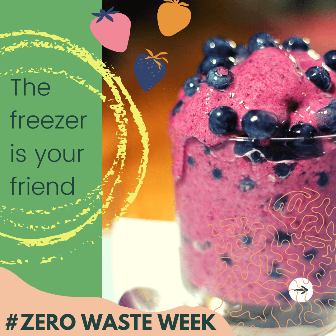 Freeze ripening food to waste less