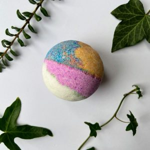 Vegan rainbow bath bombs