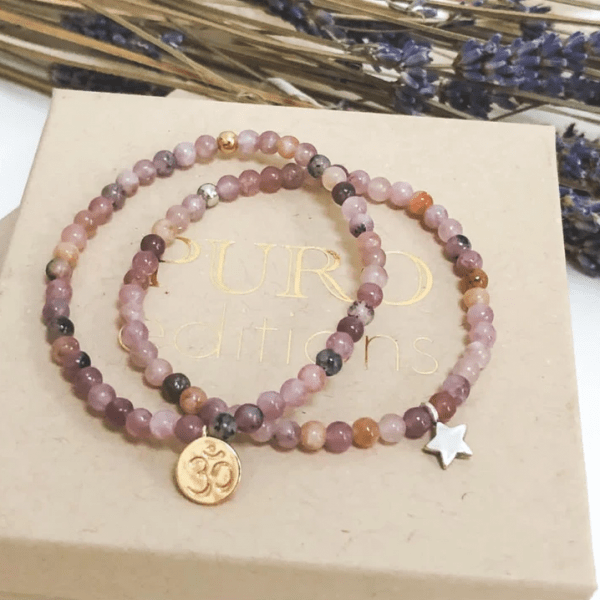 Lepidolite bracelet for anxiety