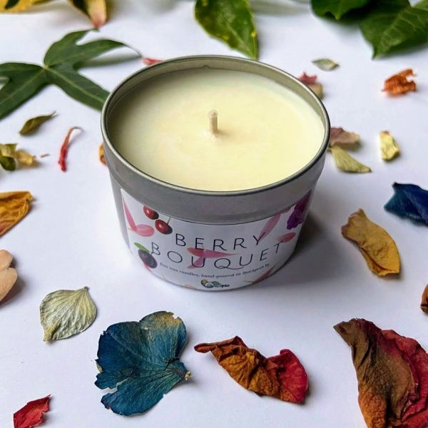 Berry Bouquet limited edition scented tin candle