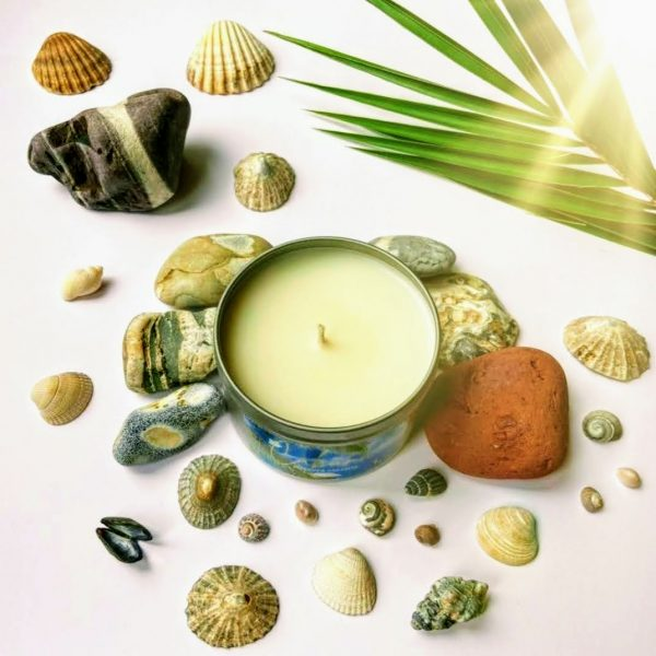 Summer handmade eco candles paradise beach Cabana