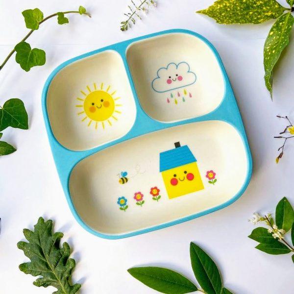 Bamboo baby food tray eco-friendly