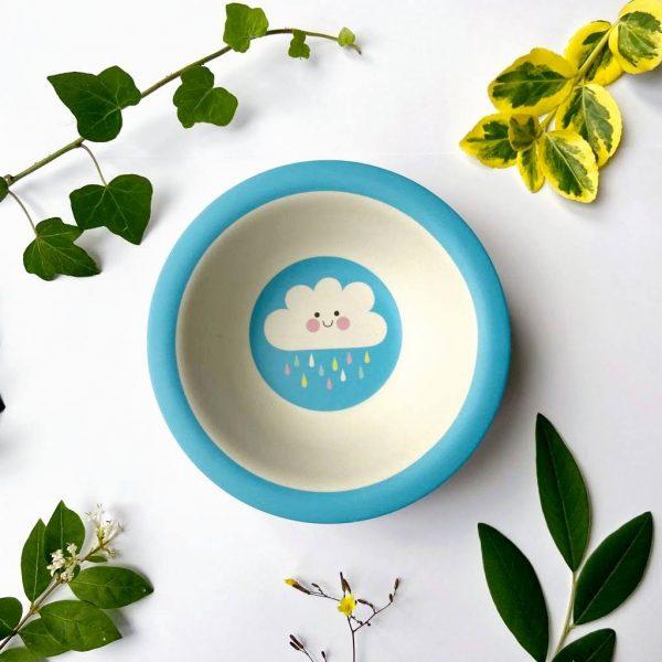 Raincloud bamboo baby bowl